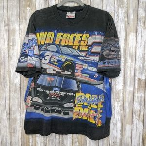 Vtg Dale Earnhardt Double Sided All Over T-shirt